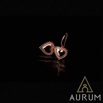 на заказ сережки сердечки из драгметаллов (серебро, золото)