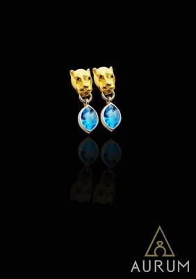 миниатюрные женские сережки из серебра/золота
