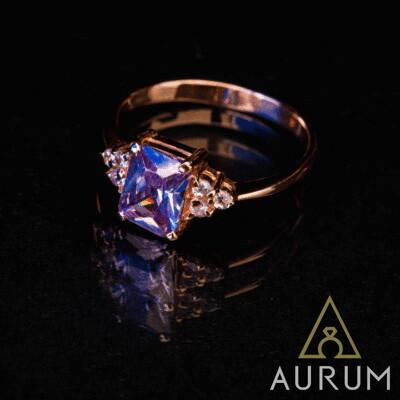 Заказать золотое кольцо с фианитом , фото эскиза